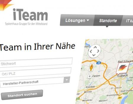 Screenshot der iTeam Webseite