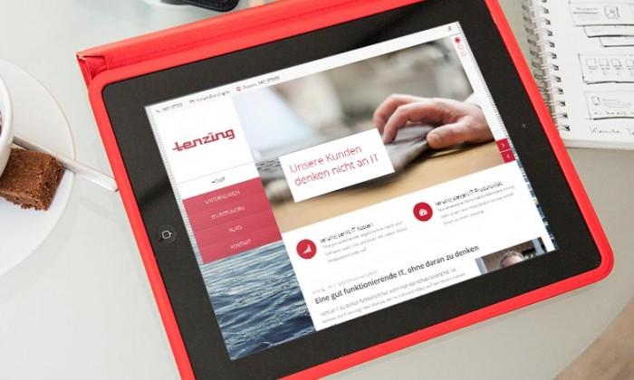 iPad mit neuer Webseite