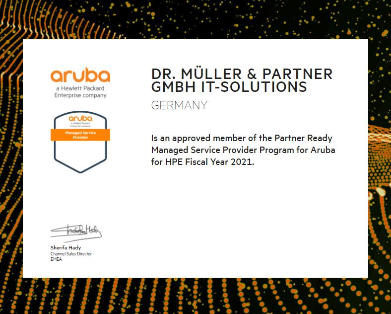 tenzing managed service provider aruba